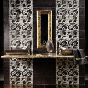 Gold and Silver Enamel Tiles by Acquario
