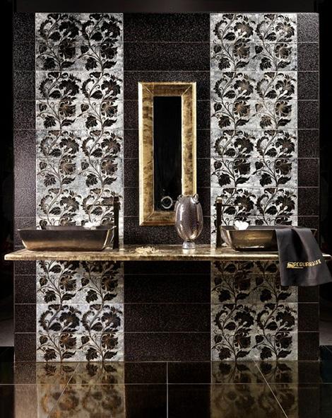 gold silver enamel tiles acquario 3 Gold and Silver Enamel Tiles by Acquario