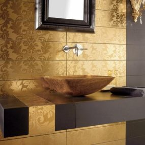 Gold Tiles from Dune – high end tile from Damasco collection