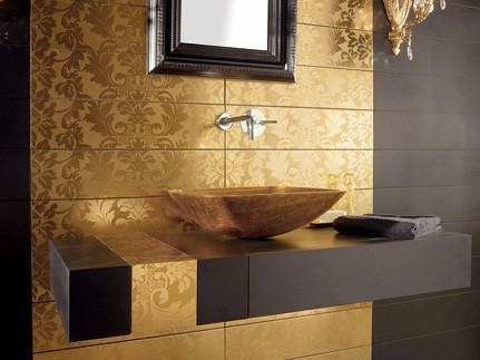 gold tile dune high end 3 Gold Tiles from Dune   high end tile from Damasco collection