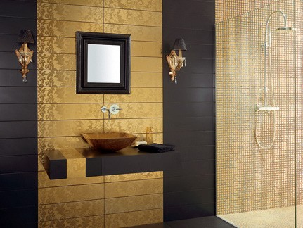 gold tile dune high end Gold Tiles from Dune   high end tile from Damasco collection
