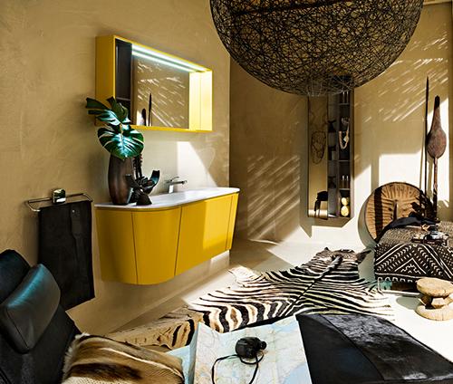 gorgeous yellow bathroom vanity cerasa suede 1 Gorgeous Yellow Bathroom Vanity by Cerasa