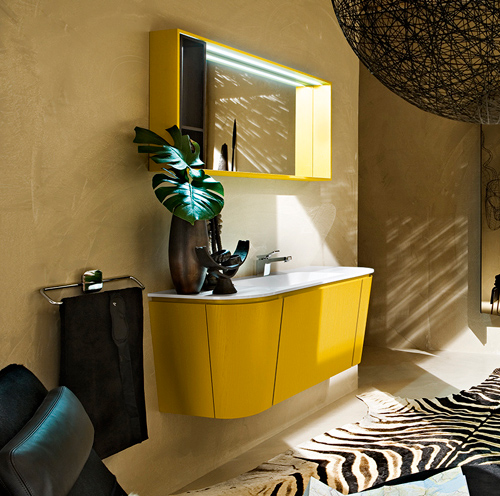 gorgeous yellow bathroom vanity cerasa suede 5 Gorgeous Yellow Bathroom Vanity by Cerasa