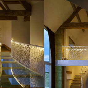 Graceful Helical Balustrade Cells by EeStairs