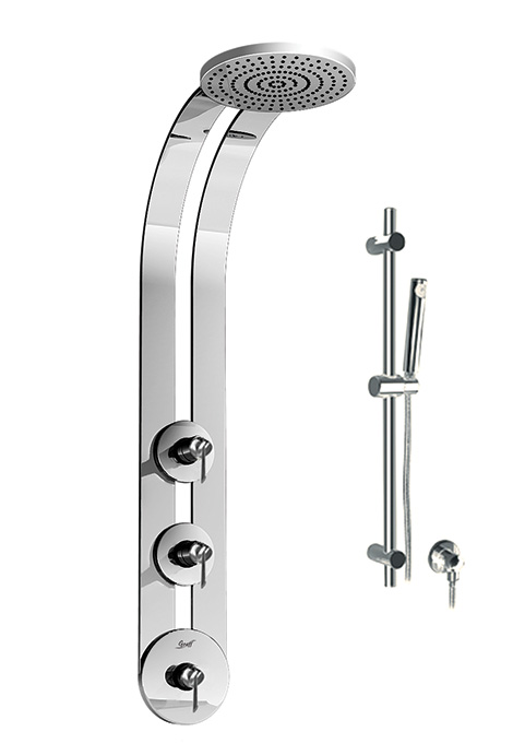 graff ski shower Graff Ski Shower with Thermostatic Valve   this ingenious shower remembers your preffered water temperature