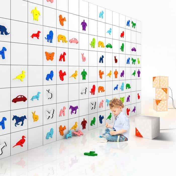 Graffiti Proof Wallcovering for Kids – Modula Wall by Yellow Goat