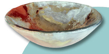 gravity glass mardi gras glass vessel