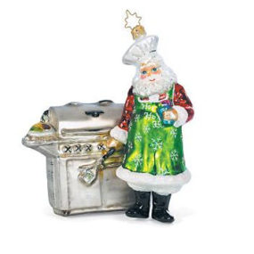 Grilling Santa Christmas Ornament – the President's choice