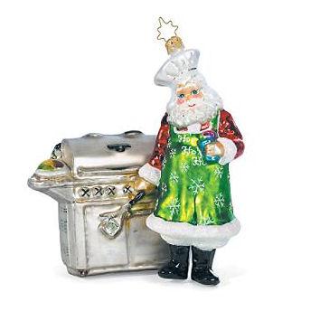 grilling santa christmas ornament Grilling Santa Christmas Ornament   the Presidents choice