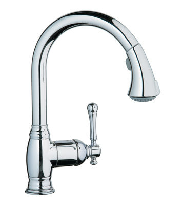 New Grohe kitchen faucet - the Bridgeford pull-out transitional faucet