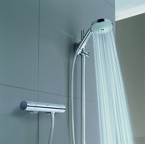 Grohe new Grohtherm 3000 C Thermostatic Shower: Minimalist and Eco-friendly!
