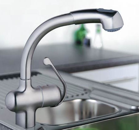 Grohe Ladylux Plus Pull Out Spray Kitchen Faucet.