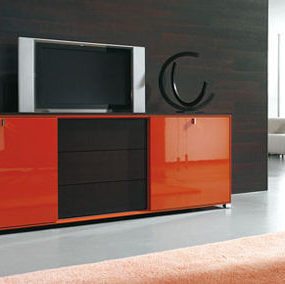 TV Wall Unit from Gruber Schlager- the Cubiko Wall Unit