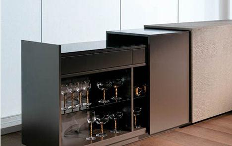 gruber schlager elements furniture collection room divider bar Butler Room Divider from Gruber Schlager   the Elements Collection room divider