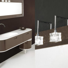 Customisable Etoile Vanities from Tarrini: turned wood legs
