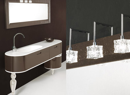 gruppo tarrini vanity etoile 4 Customisable Etoile Vanities from Tarrini: turned wood legs