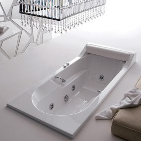 Rectangular Bathtub from Gruppo Treesse – classic Alba