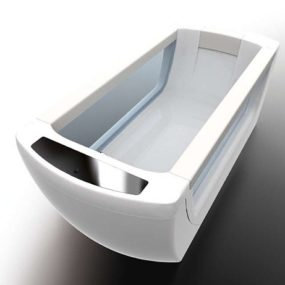 Vision bathtub from Treesse: remote controlled mineral spa system