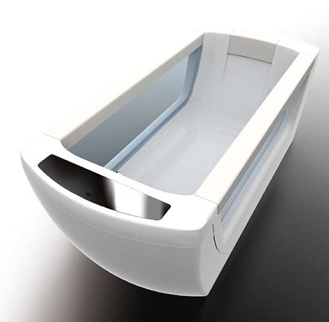 gruppo treesse bathtub spa vision Vision bathtub from Treesse: remote controlled mineral spa system