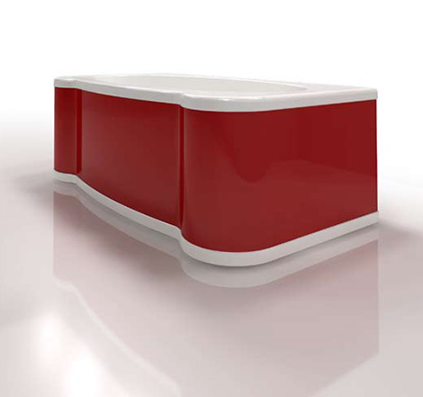 gruppo treesse custom bathtub nly red