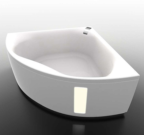 gruppo treesse hydromassage tub corner slide Hydromassage Tub for Corner Installation from Gruppo Treesse – new Slide