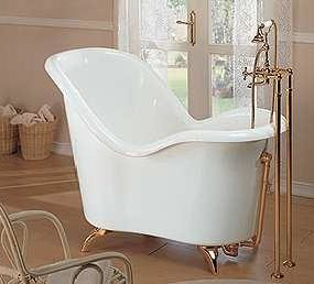 Soaking tub from Gruppo Treesse – the nostalgic Moulin Rouge bathtub