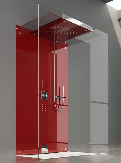 Minimalist showers by treesse for Best bathrooms dublin
