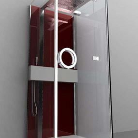 Shower Cubicle from Gruppo Treesse – new modern Flat includes rain shower head and turkish bath