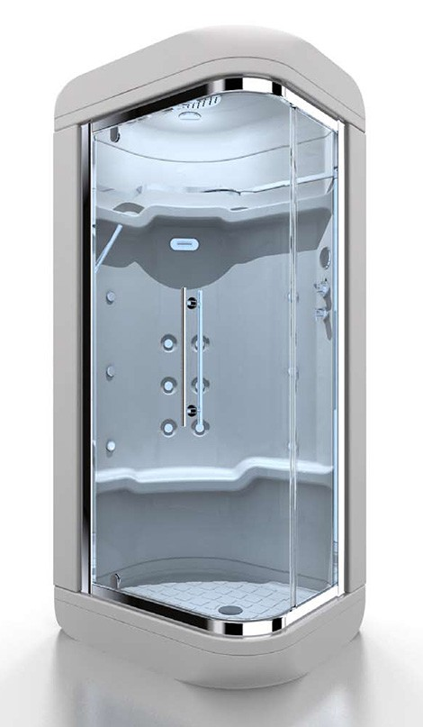 gruppo treesse shower module dada Shower Modules from Gruppo Treesse   new multifunction Dada module with soft corners