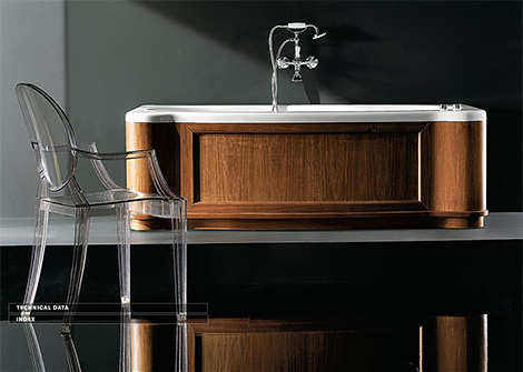 gruppo treesse skirted bathtub new classic Skirted Bathtub from Gruppo Treesse   a classic English style