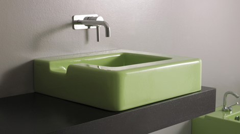 GSG Ceramic Design sink in green