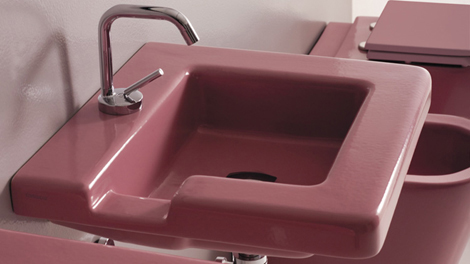 gsg ceramic design sink pink Contemporary Bathroom Sinks from GSG Ceramic   the cool Race sink designs