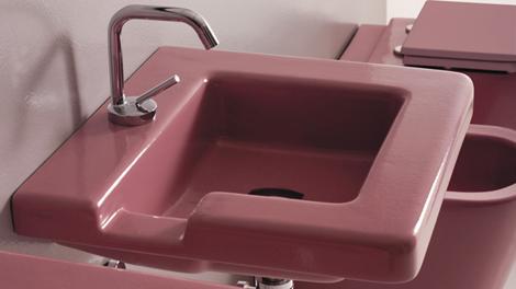 gsg ceramic design sink pink