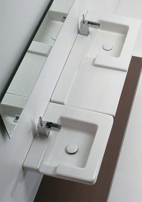 Contemporary Bathroom Sinks From GSG Ceramic The Cool Race Sink Delectable Contemporary Bathroom Sinks Design