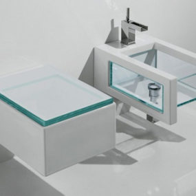 Glass Bathroom Suites – new Glass suite by Ceramica GSG