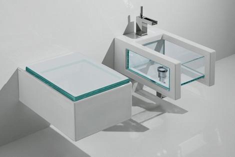 gsg glass bathroom suites 4 Glass Bathroom Suites   new Glass suite by Ceramica GSG