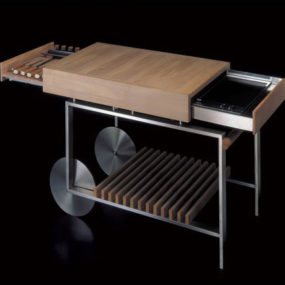 Movable Kitchen Island with Compact Barbeque from Gunni