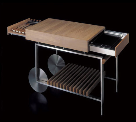 gunni movable kitchen island Movable Kitchen Island with Compact Barbeque from Gunni