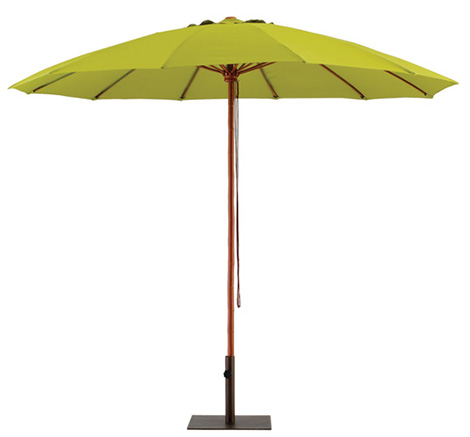 Habitat Bamboo umbrella in olive green