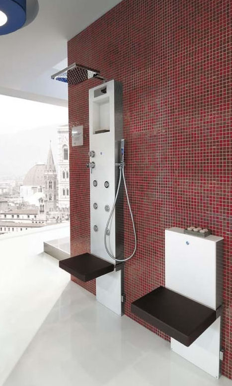 hafro rigenera steam shower column Shower Column from Hafro   the new Rigenera Steam Shower