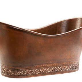 Hammered Copper Bathtub by Premier Copper Products