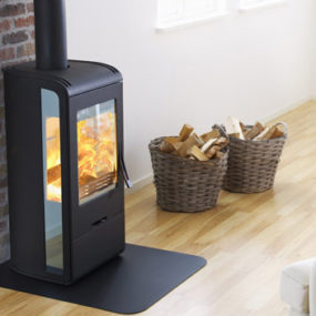 Wood Burning Stove from Nibe – modern Handol 30 stoves with Mirrored Glass