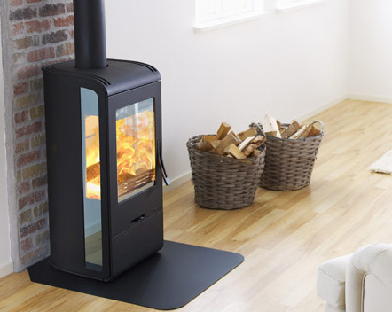 handol stove 32 1 Wood Burning Stove from Nibe   modern Handol 30 stoves with Mirrored Glass
