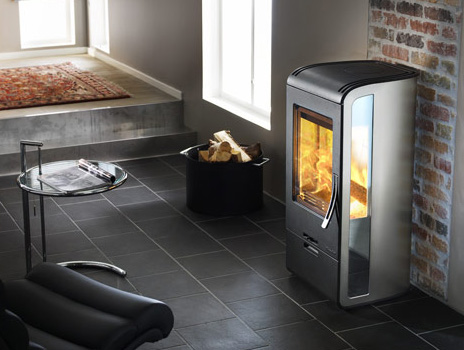 handol stove 32 2 Wood Burning Stove from Nibe   modern Handol 30 stoves with Mirrored Glass