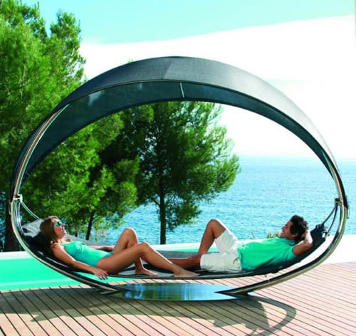 hanging sun lounger for two royal botania surf 1