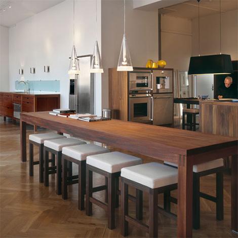 Hansen kitchen - wood dining table