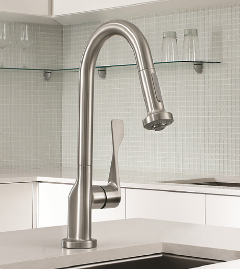 Commercial Style Kitchen Faucet - new Axor Citterio Prep Faucet by ...