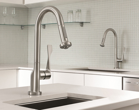 hansgrohe commercial style kitchen faucets Commercial Style Kitchen Faucet   new Axor Citterio Prep Faucet by Hansgrohe
