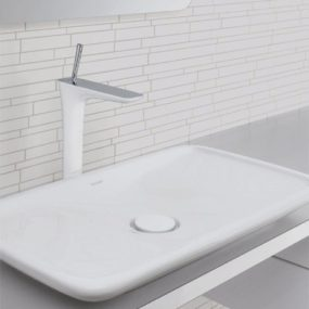 Hansgrohe PuraVida Faucets – new bathroom trend for 2009: white lacquer with polished chrome!