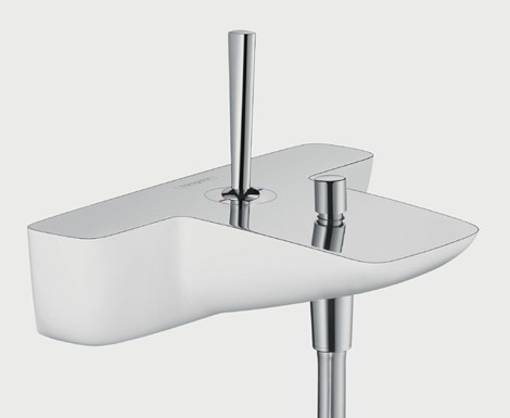 hansgrohe puravida faucets new bathroom trend for 2009 white lacquer with polished chrome. Black Bedroom Furniture Sets. Home Design Ideas